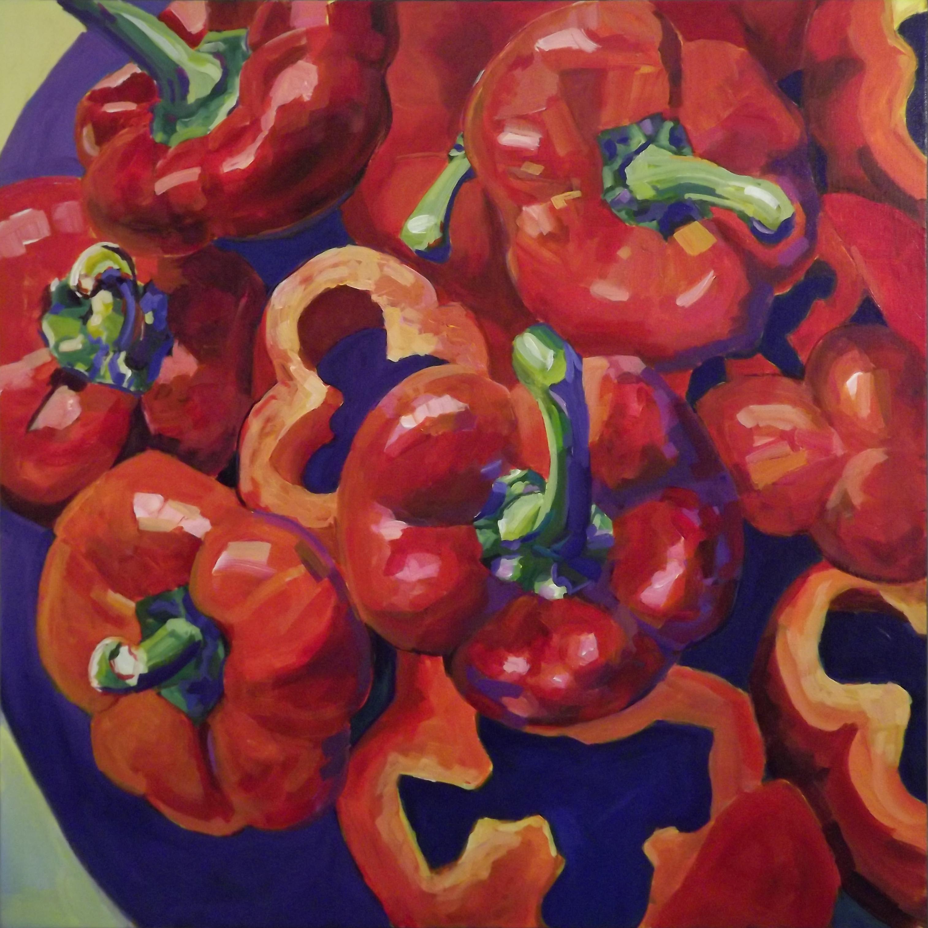 Big Reds 30 x 30 acrylic