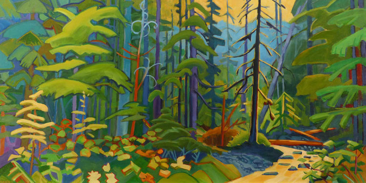 Craver---Eaglecrest-Forest-Stream---Acrylic---48W-24H-2014---web