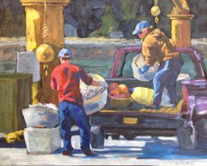 Spring Harbor Chores, 16 x 20 , $350